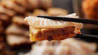 [같이한잔] 홍어삼합편 먹방 묵은지 돼지수육 보쌈 애주…