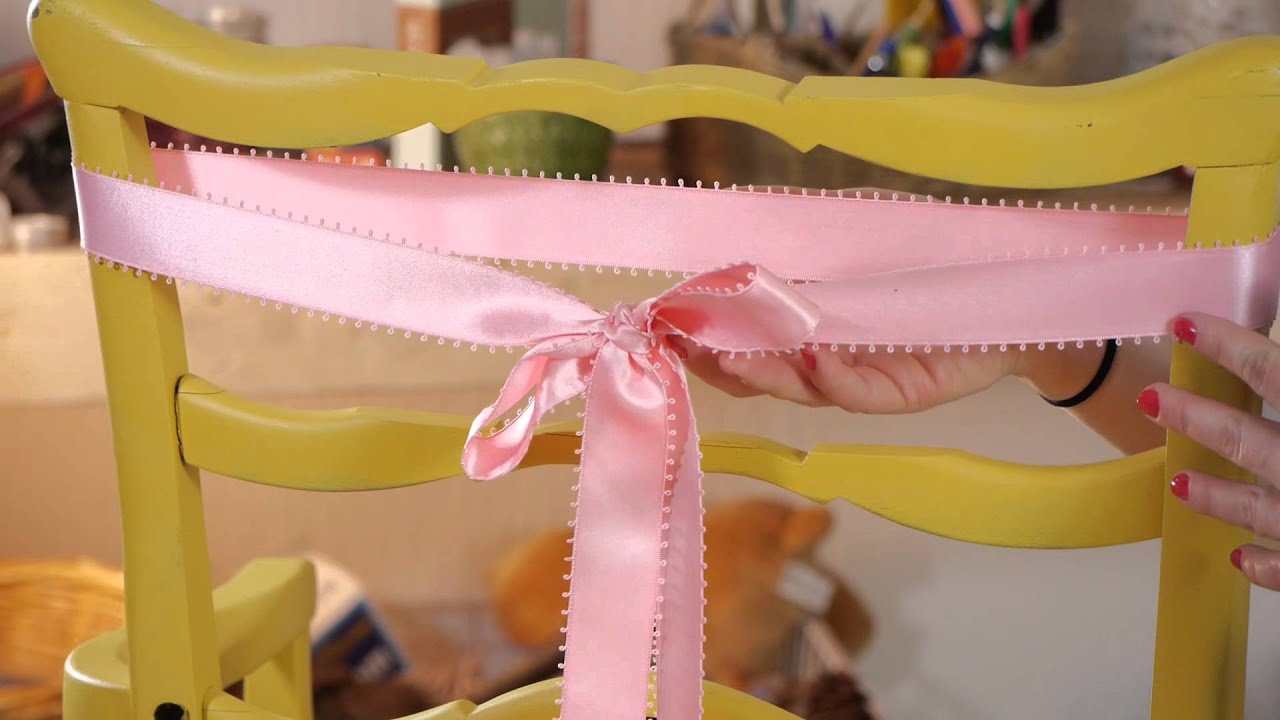 Can You Make a Chair Sash From a Ribbon Household Decorations