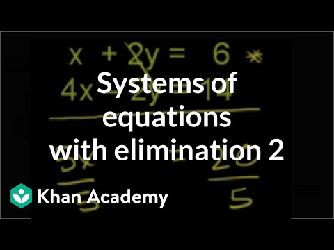 Addition elimination method 1 | Systems of equations | 8th g