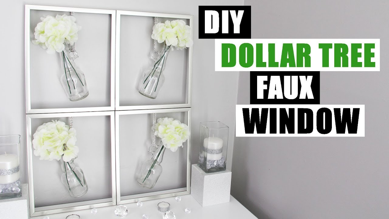 DIY FAUX WINDOW FRAME Easy Dollar Tree Spring Home Decor - YouTube