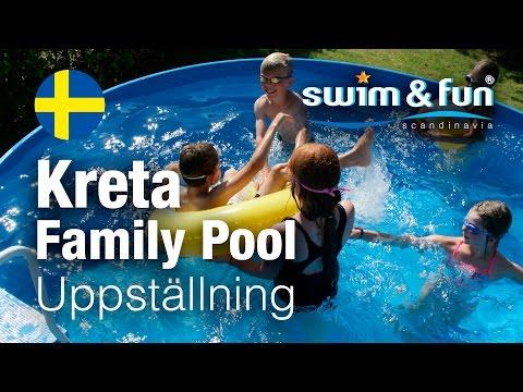 Uppställning av Kreta Family Pool från Swim & Fun Scandinavia