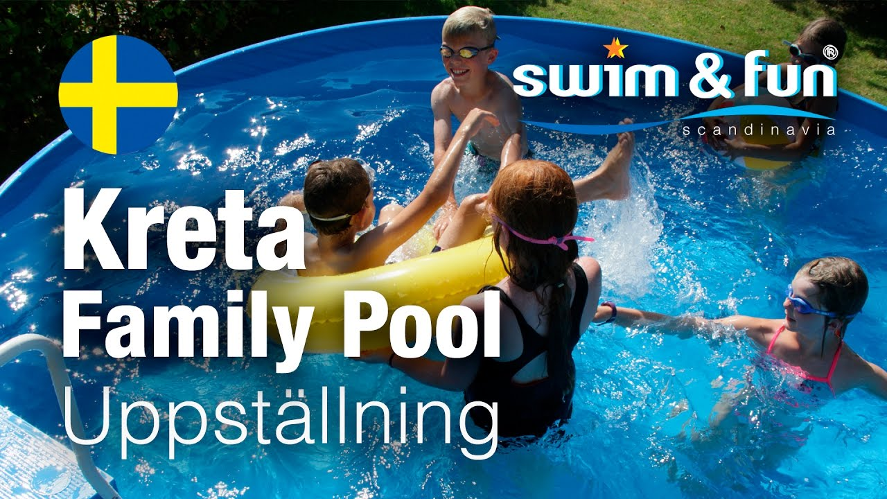 Uppställning av Kreta Family Pool från Swim & Fun Scandinavia ... : att bygga pool : Inredning