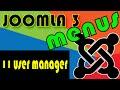 Joomla 3 Tutorials: The user Manager Menus
