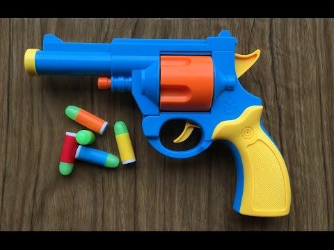 Toy Gun - Realistic 1:1 Scale .45 ACP Bulldog Revolver - Rubber Bullet Pistol Prop