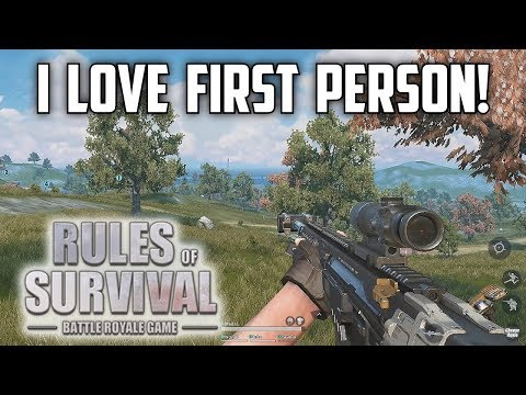 I LOVE FIRST PERSON! - Rules of Survival Livestream