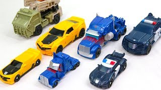 Transformers 5 TLK Legion & Turbo Changer Optimes Prime Bumblebee Barricade Hound Car Robot Toys