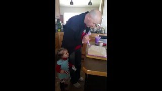 world s most patient dad full video what are you doing frosting a cake wait for it
