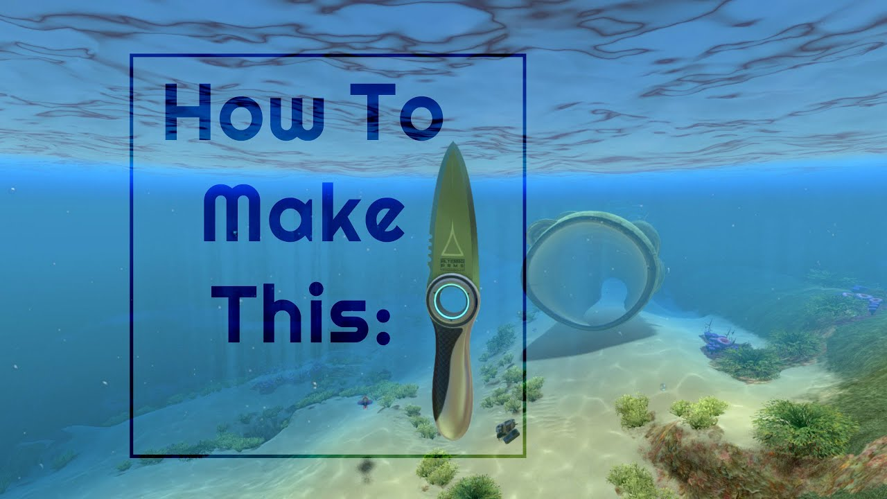 How I Made My Subnautica Knife Irl Youtube