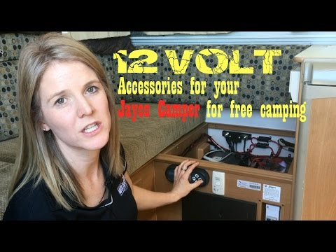 12 Volt Accessories for Jayco Caravan   Camper Trailer  Free Camping   Staying Off the Grid