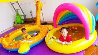 Van and Nam Pretend Play Fishing Game Part 2, Fishing Toy for Children, BaBiBum
