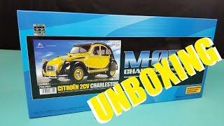 Tamiya Citroën 2CV Charleston 1/10 M-05 rc Unboxing and review #58655 (2018)