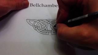 How to Draw Celtic Knots 24 - Crescent Triskele of Kells pg 32v, 2of4
