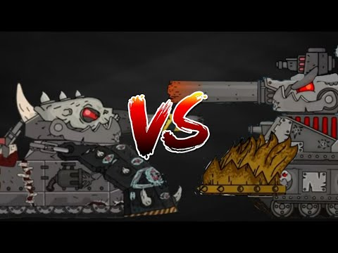 Demon Ratte VS Leviathan-Cartoon about tanks