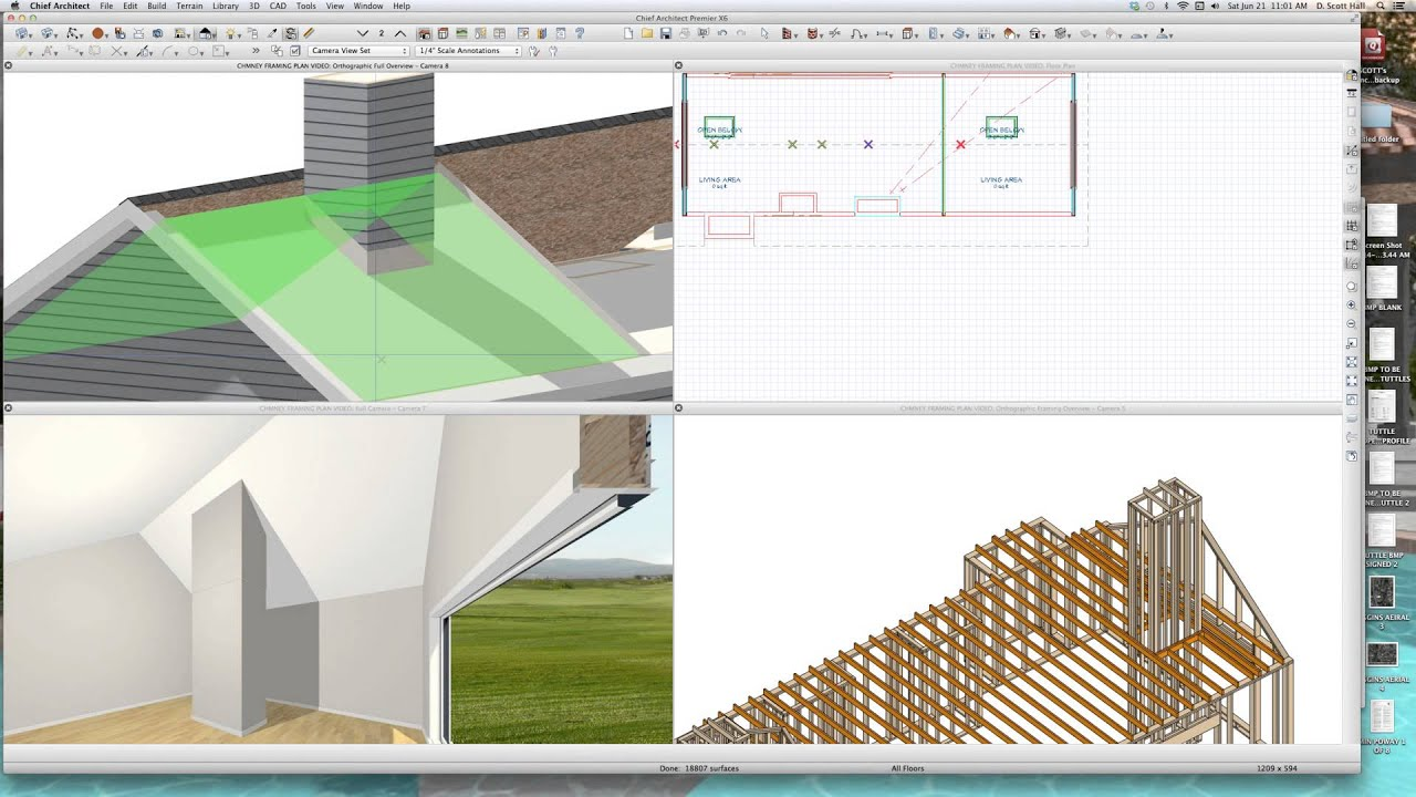 CHIMNEY FRAMING PART 1Chief Architect Videos by dsh - YouTube