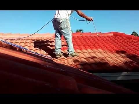 Great Spray Techniques How Painting Roof Tiles Using An Airless Sprayer