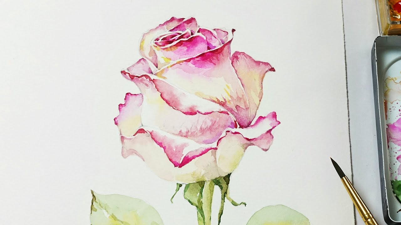 How to paint a rose with watercolors heimtextil 2018 for How to paint a rose in watercolour