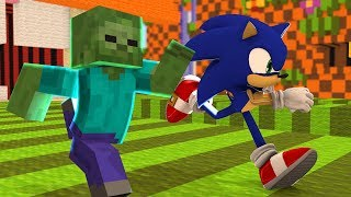 Monster School : RUN AS FAST AS SONIC CHALLENGE!! - Minecraft Animation
