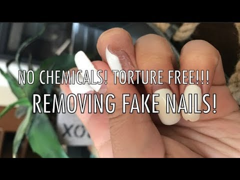 How To Remove Fake Nails IN SECONDS!!!