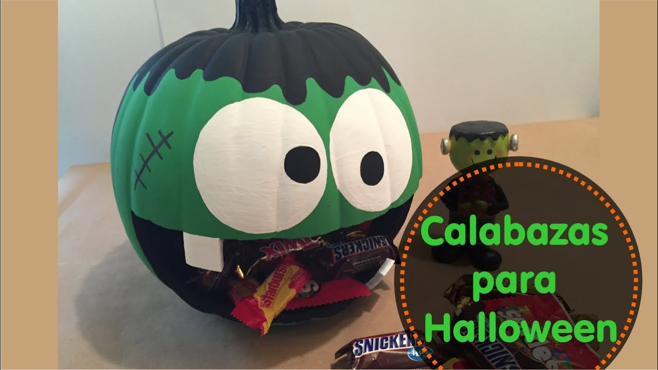 Diy c mo decorar calabazas para halloween youtube - Calabazas pintadas y decoradas ...