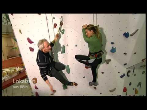 Lokalzeit aus Köln Manuela Klein unterwegs in Kletterhalle