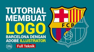 Logo barcelona dengan adobe illustrator ...