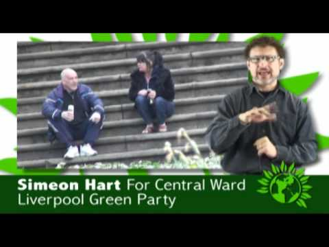 Simeon Hart, Green Party candidate in Liverpool Central ward