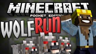 TEMPLE RUN in MCPE!!! - Ultimate Wolf Run Mini Game - Minecraft PE (Pocket Edition)