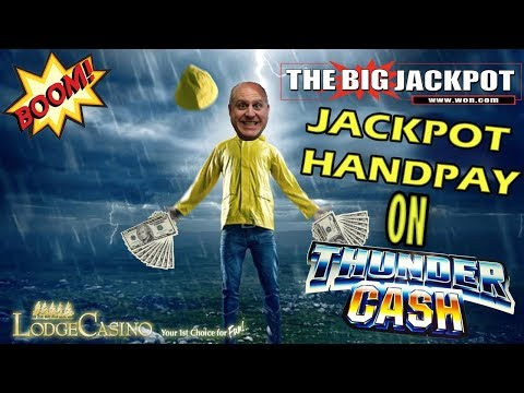 ♦️ JACKPOT HANDPAY ♦️ $100/SPIN on ⚡ THUNDER CASH ⚡ w/ The Big Jackpot