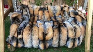 MY FIRST TIME..😎 🌴HUGE SILVER CROSS FOX FUR SWING COVER