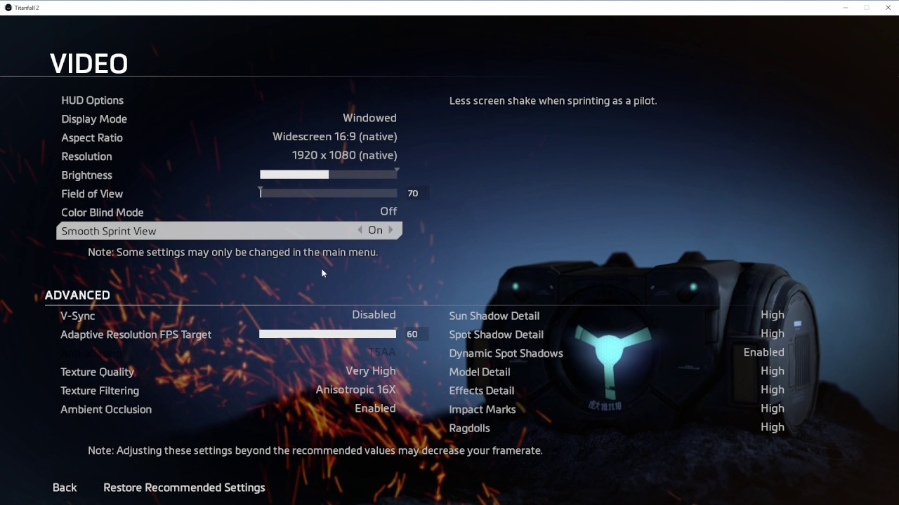 How To Enable VSync In Titanfall 2