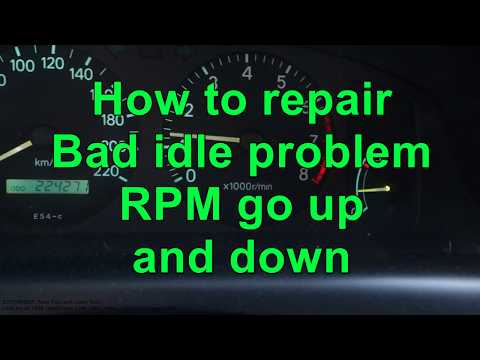How to repair Bad Idle Speed problem in car. RPM go up and down