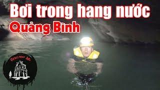 Bơi trong hang tối Trạ Ang - Quảng Bình
