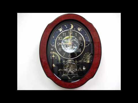 Rhythm Timecracker Cosmos Magic Motion Musical Wall Clock - Wood Frame