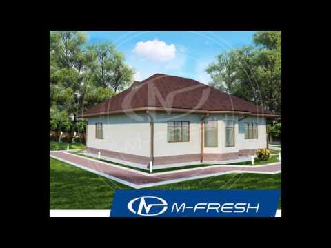 Смотреть M-fresh Legend (Свежий проект 1-этажного дома с 4 комнатами)