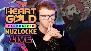 ONTO THE ELITE FOUR! • Pokemon Heart Gold Randomizer Nuzlocke • LIVE!