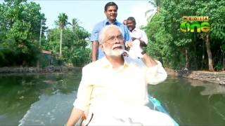 suresh kurups election campaign in country boat