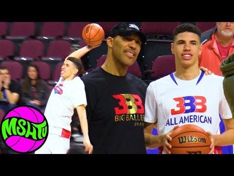 LaMelo Ball vs D1 COLLEGE RECRUITS - Big Baller Brand All American Game