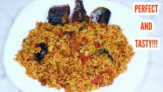 Perfectly cooked rice and beans (jollof)   Very tasty and yummy!