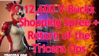 Fortnite 12,600 V-Bucks Shopping Spree + Return of the Tricera Ops