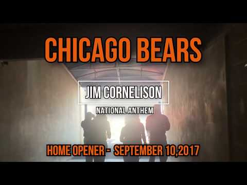 Jim Cornelison National Anthem - Bears Home Opener with B-2 Spirit Stealth Bomber Fly Over