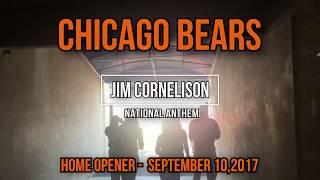 Jim Cornelison National Anthem - Bears Home Opener with B-2 Spirit Stealth Bomber Fly Over