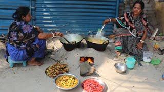 Bata Pona Macher Light Jhol Recipe / village Food  Vegetables and Fish Recipes