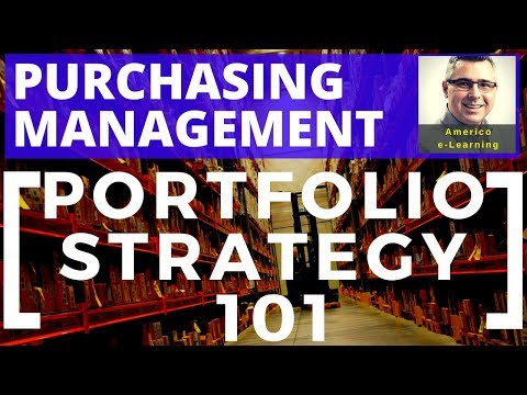 Lesson 7 - Purchasing Portfolio Strategy – Find best purchasing strategy with the Portfolio Matrix