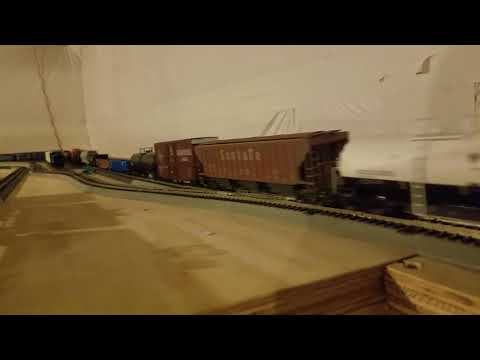 Bnsf#3786 leads a mixed freight train