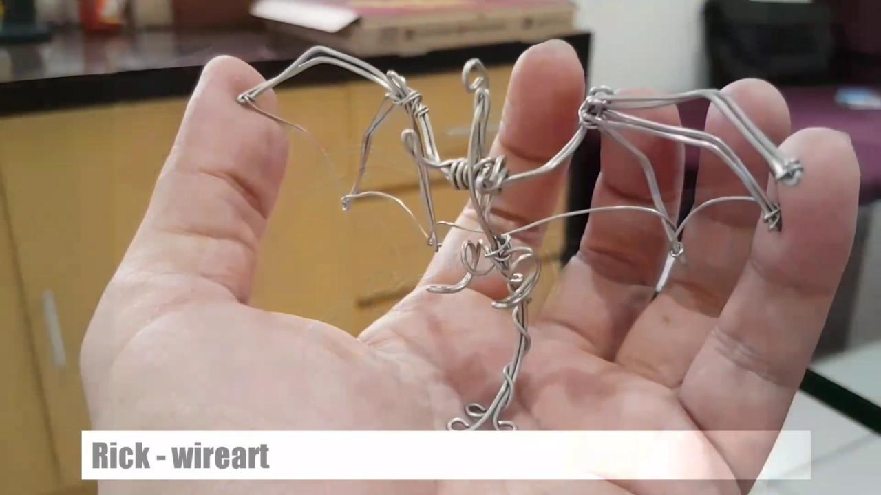 Wire Art Simple Mini Dragon Youtube