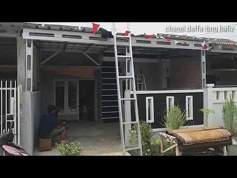 youtube cara membuat kanopi baja ringan