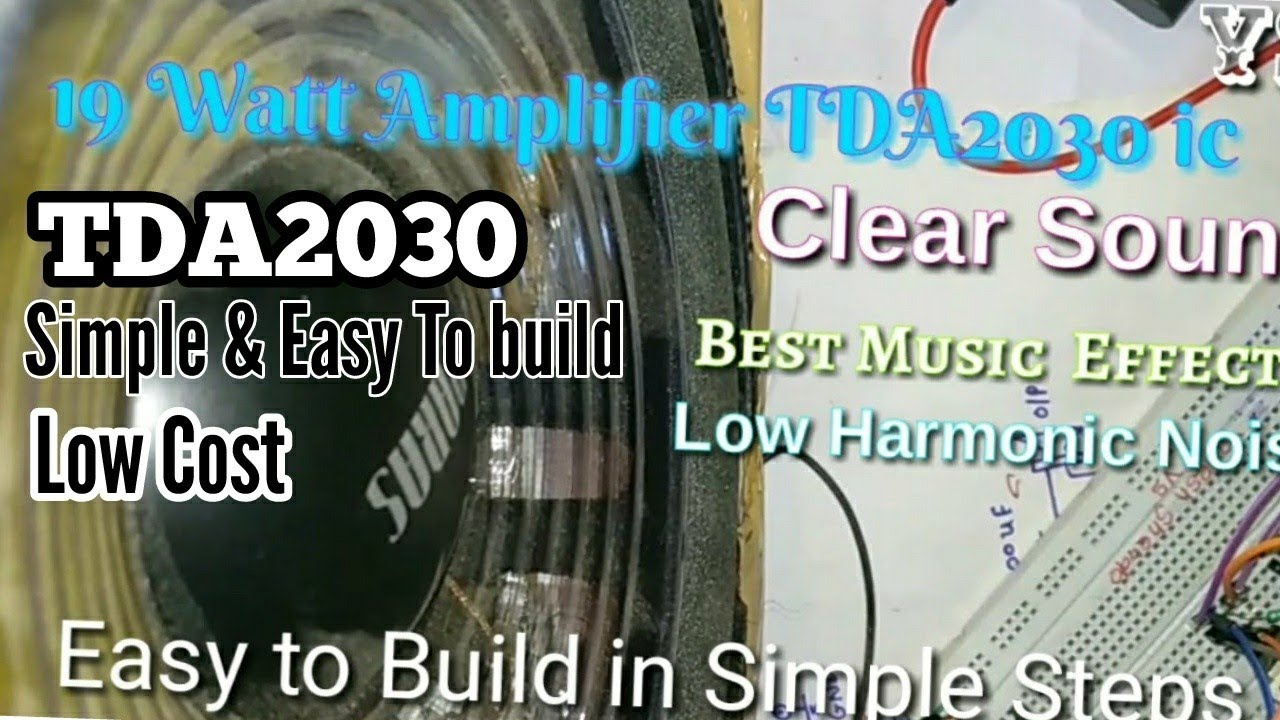 Diy 19 Watt Hi Fi Audio Amplifier Using Ic Tda2030 In Easy And Circuit Electronic Project Simple Step By Steplow Cost