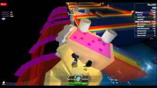 Zeo Plays Roblox: Ride a Nyan Cat Down a Rainbow!