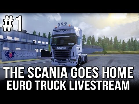 The Scania Goes Home - Part #1 (ETS2 Live-stream with Scandanavian ProMod)