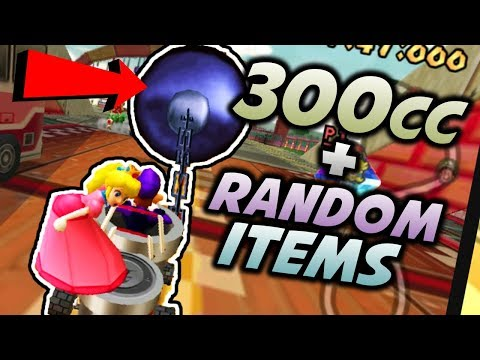 MARIO KART DOUBLE DASH GOT HACKED!!  (300cc Class, Purely Random Items, Unrestricted Kart Selection)